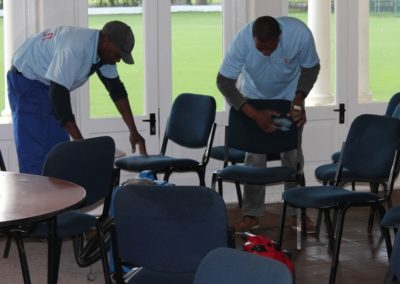 Wynberg Boys High - cleaning of pavilion chairs