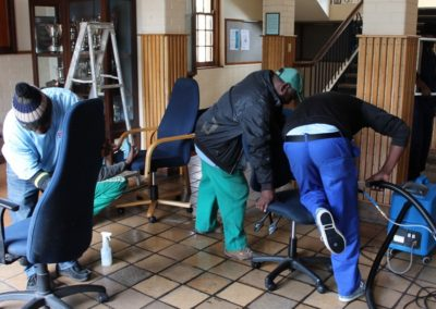 Wynberg Boys High - cleaning of office chairs