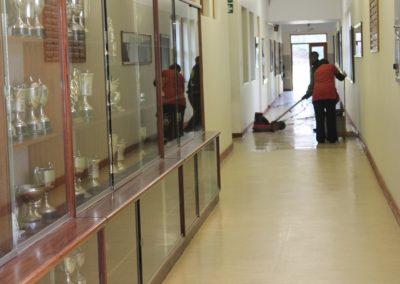 Rotary cleaning of School corridor
