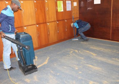 Dry carpet cleaning of School Staffroom