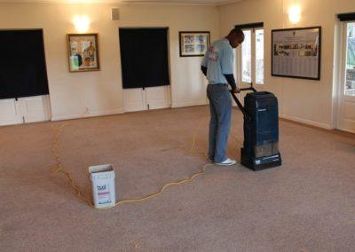 Carpet cleaning - school pavilion