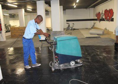 Fitness Centre Floor Polishing