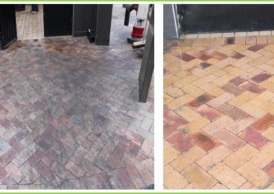 Pavecleen before and after cleaning process