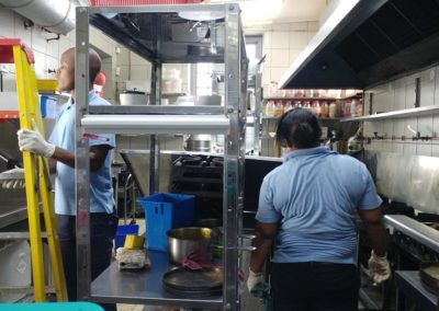 Cleaning of Kitima Kitchen