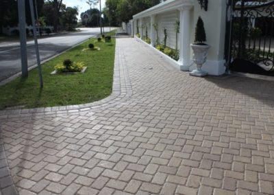 Sealed driveway and walkway