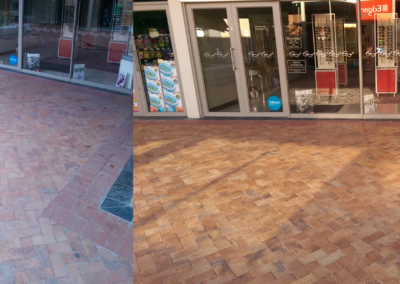 Piquetberg Mall Pavecleen process before and after