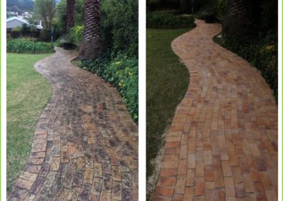 Walkway restoration - before and after